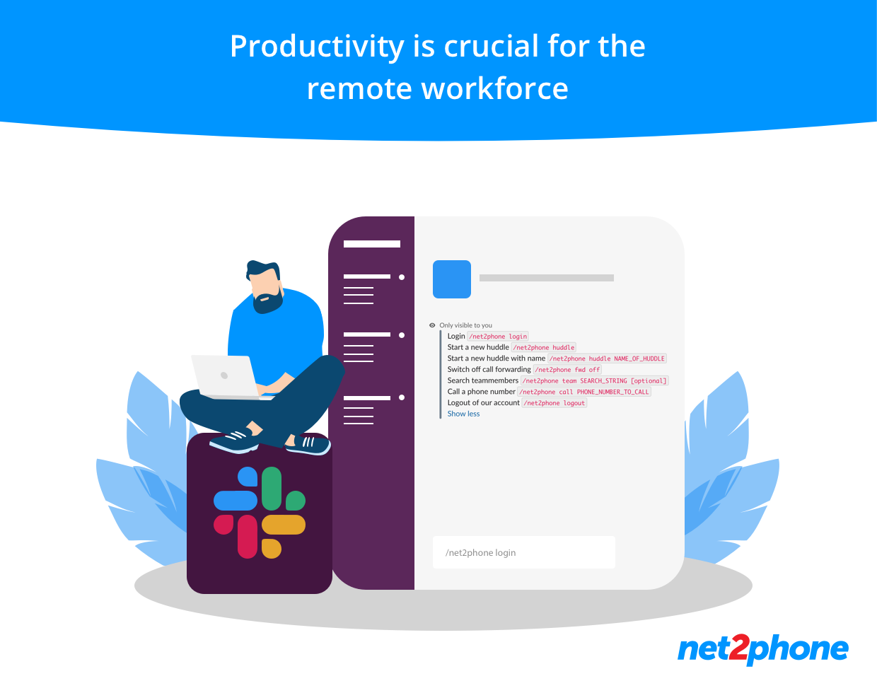 n2p slack integrationHaving a business phone system that integrates seamlessly with business apps like Salesforce, Slack, MS Teams and Zoho is crucial for the remote workforce.